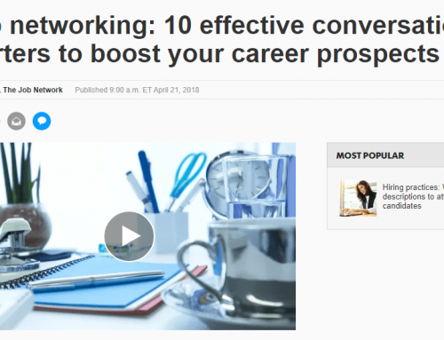 Some great Effective Networking advice from USA Today